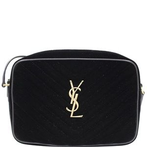 YVES SAINT LAURENT CAMERA VELVET CROSSBODY BAG